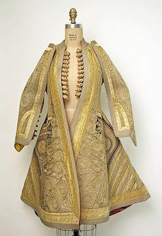 Coat, 19th century, Eastern European, silk and metal thread