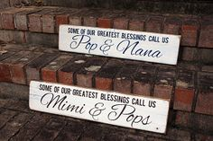 Custom Grandparent Sign for Mother's Day - 20% off through 4/28! #woodsign #mothersday #grandparents #homedecor #gifts