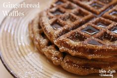 Gingerbread Waffles - the perfect Christmas breakfast!