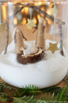Christmas Cookie Jar Craft | Espon Salt | Nativity