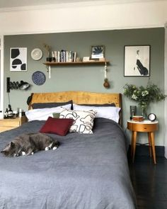 Small update: a new shade of Green in the bedroom | Design Soda: Interiors Blog | Colour, Pattern, Patina