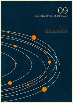 International year of Astronomy 2009 - Poster No. 2 / Simon Page #grafica #poster #helvetica #vintage