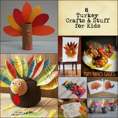 8 Thanksgiving Turkey Crafts for Kids & More