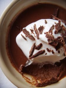 For dessert: chocolate pots de creme leave me speechless.  #saveur #dinnerparty
