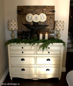 Christmas decorating by bringing things in from other rooms in the house is both fun and economical!