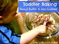 Peanut Butter and Jam Cookies from Creative Playhouse