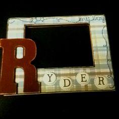 DIY picture frame; scrapbook supplies+modge podge= serious addiction!