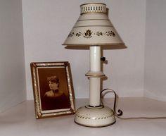 Vintage Leviton Tole Lamp Toleware Painted by SusieSellsVintage, $28.00