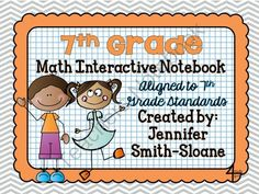 7th Grade Interactive Notebook Bundle- All Standards from 4mulaFun on TeachersNotebook.com -  (300 pages)  - 7th Grade Interactive Notebook Bundle- All Standards