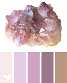 palette colors: mineral pinks