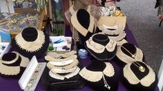 We are THE SOURCE IN NYC for 1930's Vintage Pearl Collars. These are just a few that we debuted today at Hell's Kitchen Flea Market. More next week too!