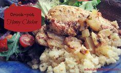 Slow-Cooked Honey Chicken (a simple crockpot recipe) - A Delightful Home crock pot, food, simpl crockpot, healthi, crockpot recipes