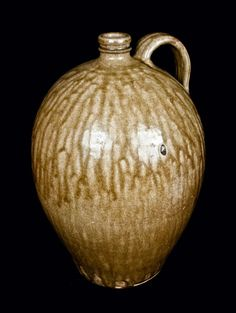 Edgefield, South Carolina Jug  Alkaline-Glazed, mid 19th century
