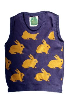 Bunnies Print Sweater Vest | Dreed * Tea