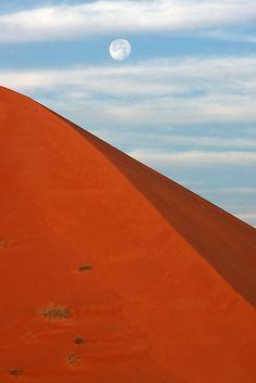 sunrise on the red dunes of al ain, UAE...