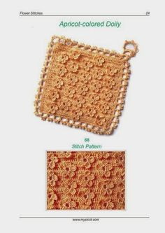 Free Crochet Pattern: Flower Pattern English Instructions Included