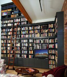 home libraries, dream homes, dream librari, dream library, shelv, bookshelf ladder, dream houses