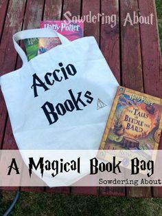 DIY Magical Stenciled Book Bag