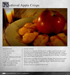 """""""The whole experience is Westeros-meets-State fair."""" MORE RECIPES: http://itsh.bo/LQC1sC #apple #dessert #fritter #food #gameofthrones"""