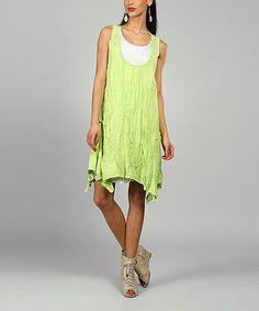 Loving this Anis Amelie Linen Handkerchief Dress on #zulily! #zulilyfinds