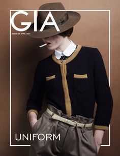 Gia Magazine 2011 | I really like the layering the designer used for this cover. It gives the cover a pseudo 3-D look.