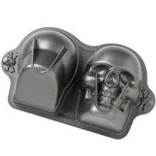 Cakedeco- packed to the rafters with all kinds of cake decorating stuff including skull cake tins!