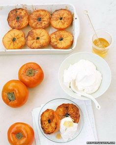 Broiled Persimmons with Mascarpone Recipe