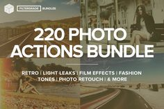 FilterGrade - 220 Actions Bundle by FilterGrade on Creative Market