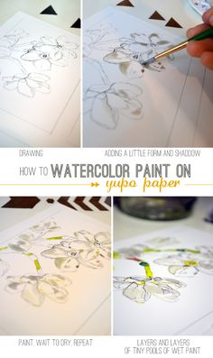 How to Watercolor Paint on Yupo Paper