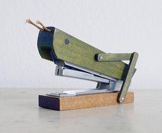 Nerdy need: Vintage wooden grasshopper stapler