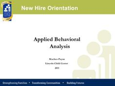 Applied Behavior Analysis New staff training! Love this.
