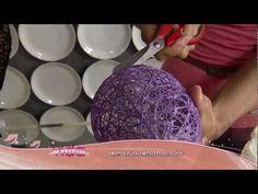 Aprenda a fazer lindos porta ovos de páscoa (feito com bexiga e linha)!