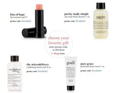 Independence Day Blowout!4 gifts to choose with $50 purchase @ Philosophy