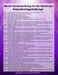 Relay For Life March Facebook Challenge!