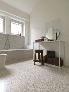 Artistic Tile | Venezia Terrazzo #tile #bathroom