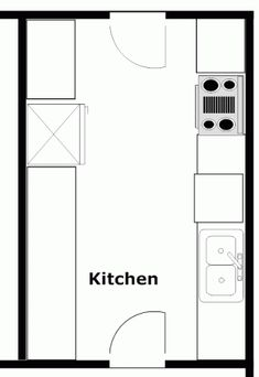 Example of galley kitchen layout