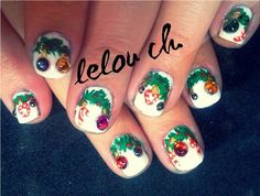 christmas ornaments by lela from Nail Art Gallery
