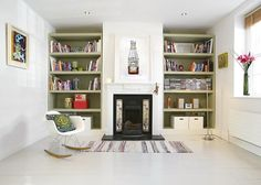 Great style - like the shelves and chair