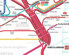 Artist creates stunning transit map for Game of Thrones