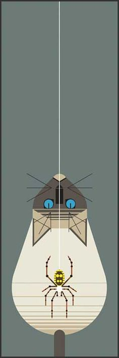 Along Came a Spider by Charley Harper