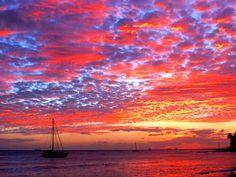 beaches, favorit place, red sky, happi place, sunset, sunris, beauti, hawaii, sailor