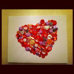 Buttons, glue gun and a canvas!