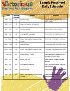 sample preschool schedule, would switch it up a bit, but routine is great.