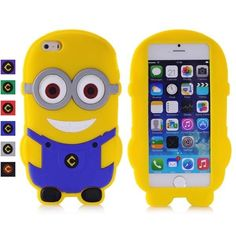3D cartoon double-eyed Minions rubberized silicone gel case for iPhone 5/5S