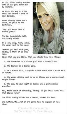 Sanitaryum | Clean Funny Pics & Clean Humor • Blonde Joke.