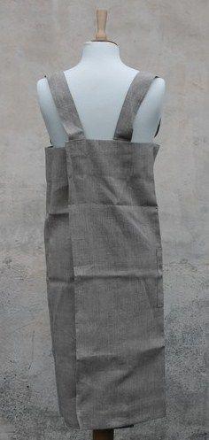Square 100% Linen Apron by Fog Linen Work