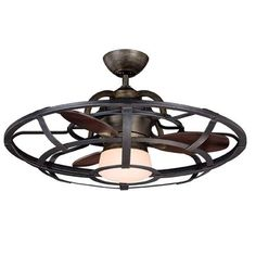 26 Inch Industrial Cage Ceiling Fan - Shades of Light