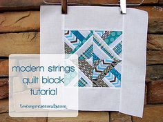 "12.5"" unfinished quilt block tutorial: Modern Strings by Erin - TwoMoreSeconds"