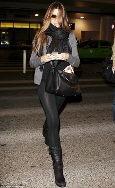 Somewhere to be? Sofia Vergara jetted straight back to Los Angeles after watching the Super Bowl in New Orleans on Sunday night