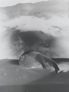Untitled/Hand-Shell, photo-montage c.1934 [negative] by Dora MAAR